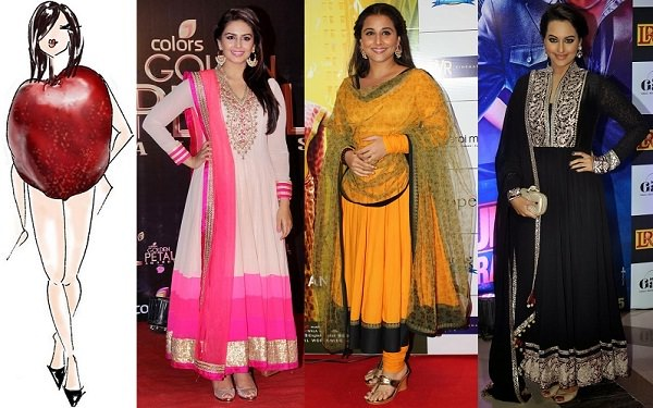 Anarkali Dresses for apple shaped body