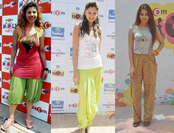 Holi fashion in Harem and lounge Pants