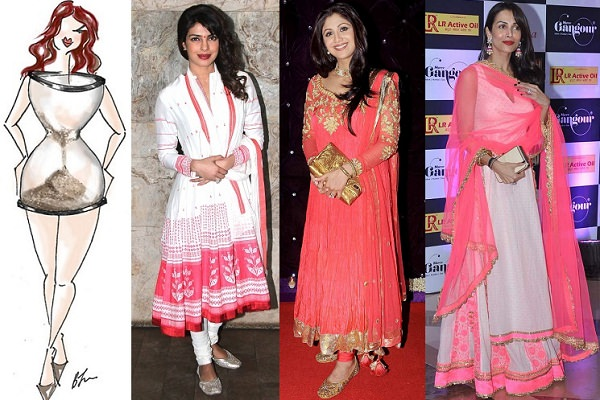Anarkali Dresses for hourglass body shape
