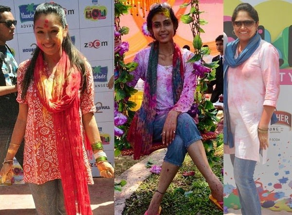 Kurti and Dupatta with Jeans for holi