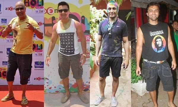Men's Knee length shorts for Holi celebration