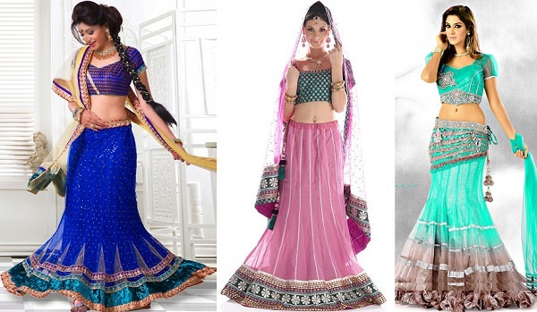 Designer Lehengas of different style
