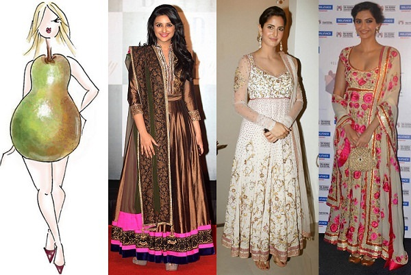 Anarkali Dresses for Pear shaped women