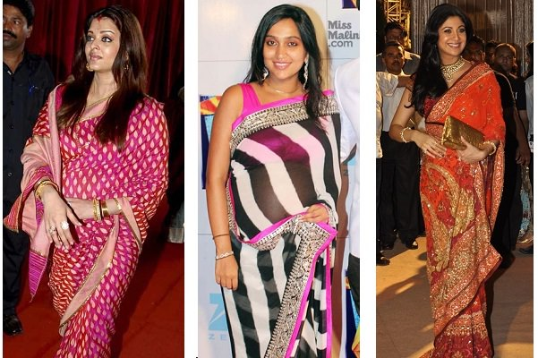 Saree to Hide Baby Bump