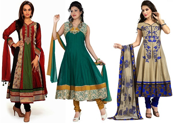 Silk Anarkali Dresses