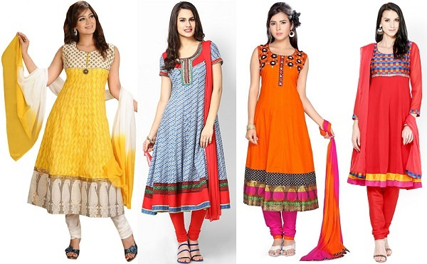 Simple Anarkali Dresses