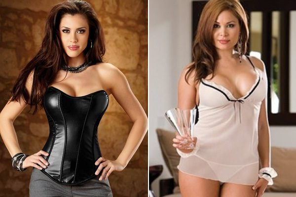 Corset and vneck lingerie for apple size women