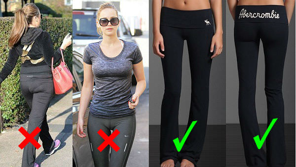 right way to wear leggings, yoga pant with right undergarments