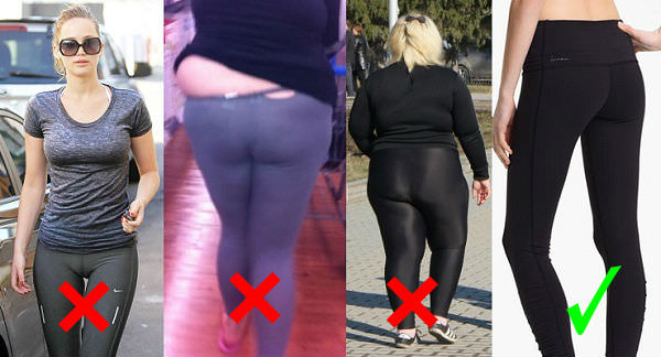 Perfect way to wear leggings: choose right size