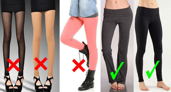 Perfect way to wear leggings: avoid nude colored yoga pants