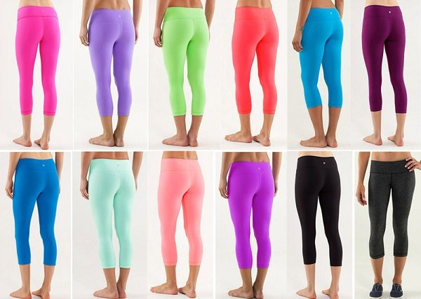 yoga pants available in multiple colors