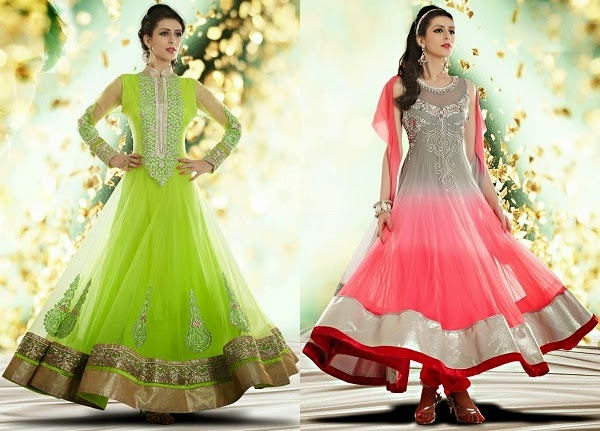 perfect anarkali dress for hourglass body shape