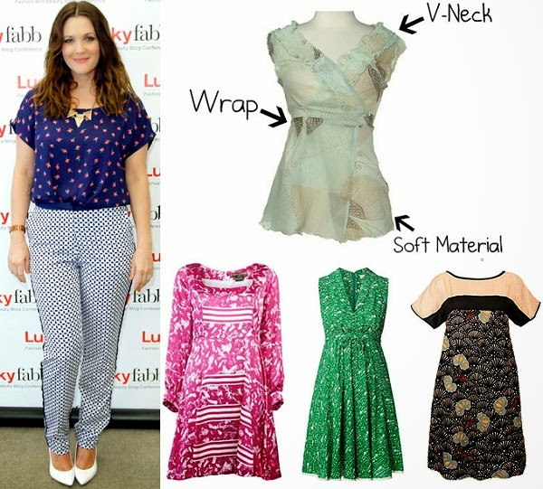 Kurti style for apple shape body