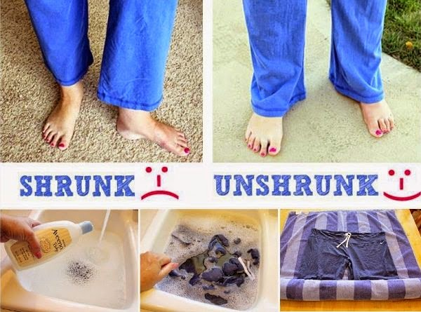baby shampoo to unshrink clothes