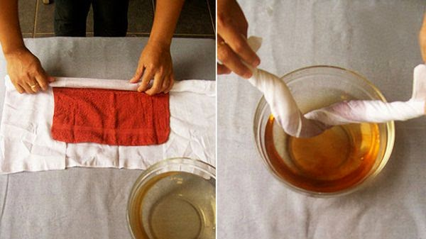 dry clothes using towel