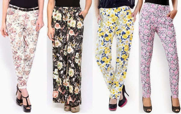 women's pants with lovely floral prints