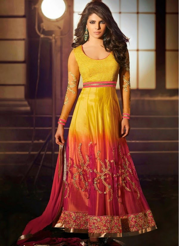 Anarkali suit for Hour glass shaped body