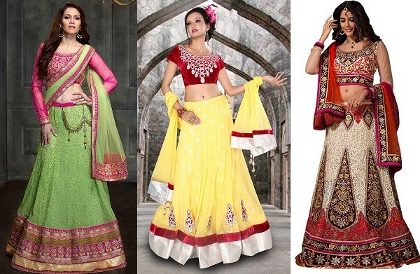 best match lehenga for pear shaped body