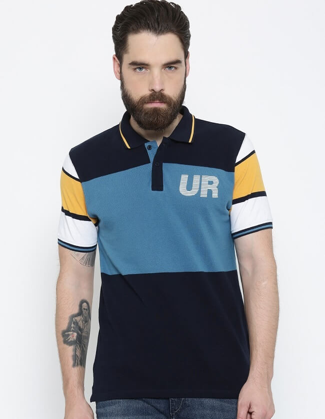 latest collection for men's polo t-shirts online in india