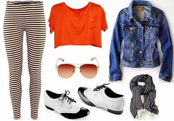 leggings and jean jacket outfit