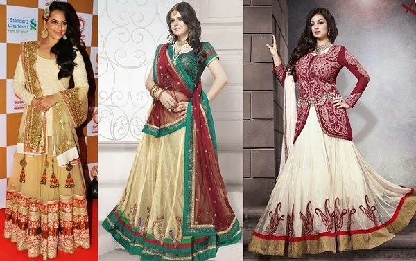 best match lehenga for apple shaped women