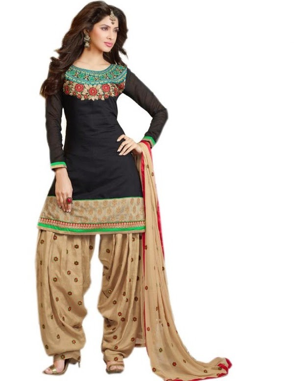 Patiala suit ideal for pear shape
