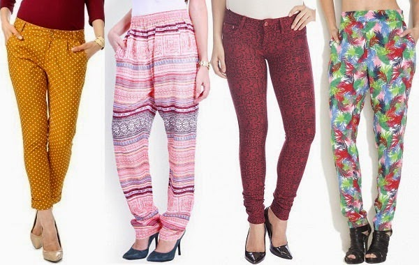 printed pants available in various patterns for women
