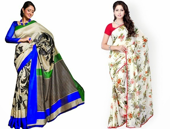 suitable saree for women blessed with rectangle body