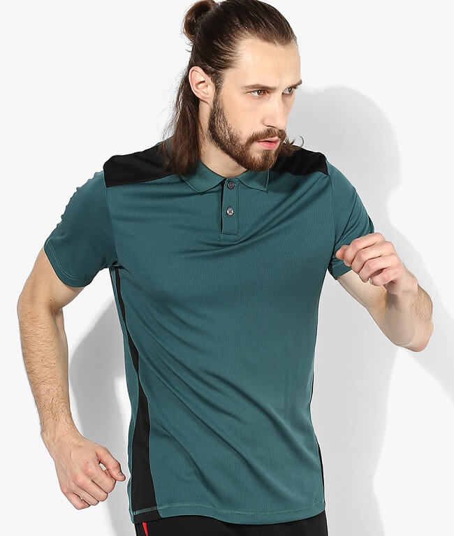 reebok t shirt with collar
