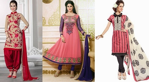 salwar kameez for pear shaped women to proportionate the body