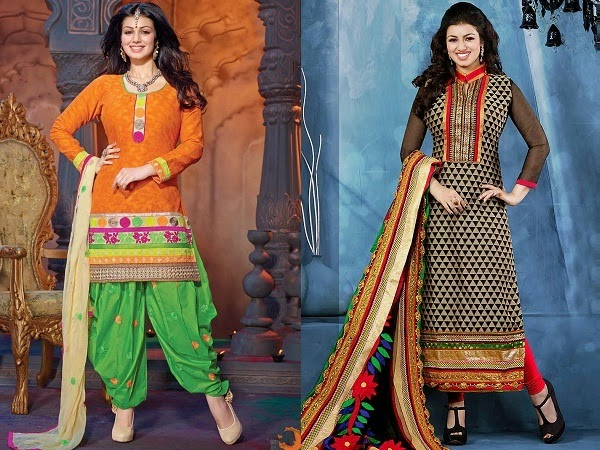 patiala salwar and straight cut suit