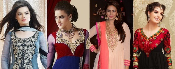 salwar kameez necklines that suit apple shaped body