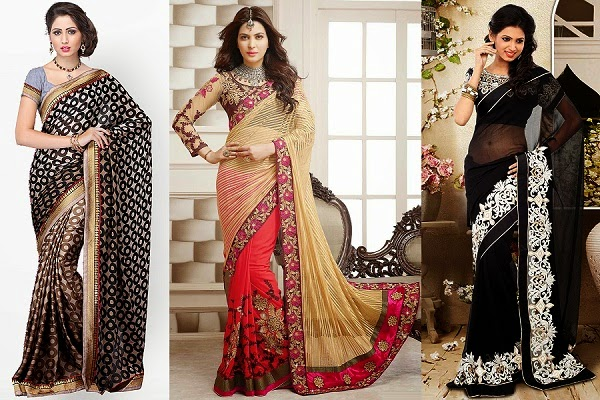 saree to wear for women with pear shape