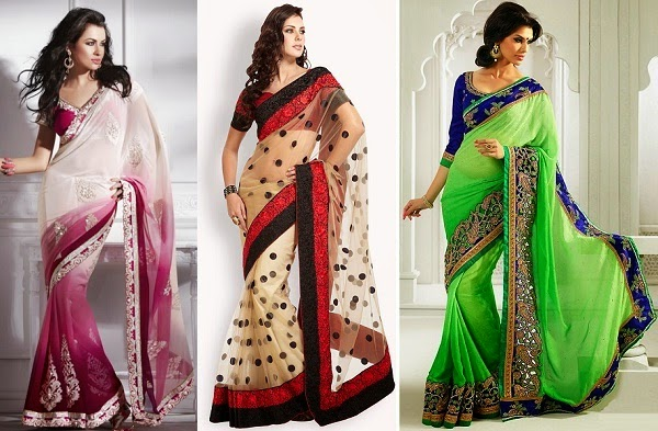 saree that flatter pear shape body