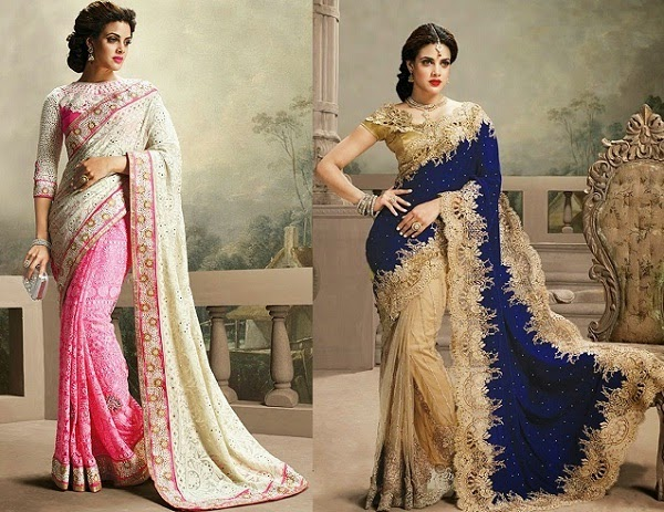suitable saree for pear shaped women