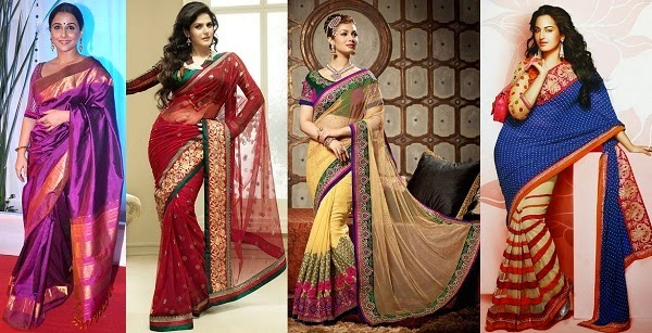 best saree fabrics for women blessed with apple shape figure