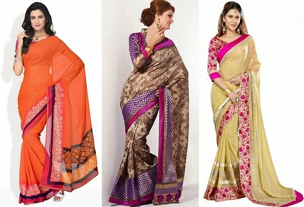 Saree to wear for women with pear body shape
