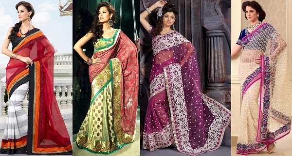 best saree fabric for women with straight body shape