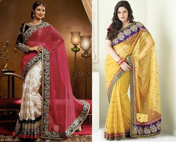 perfect sarees for women with apple shape