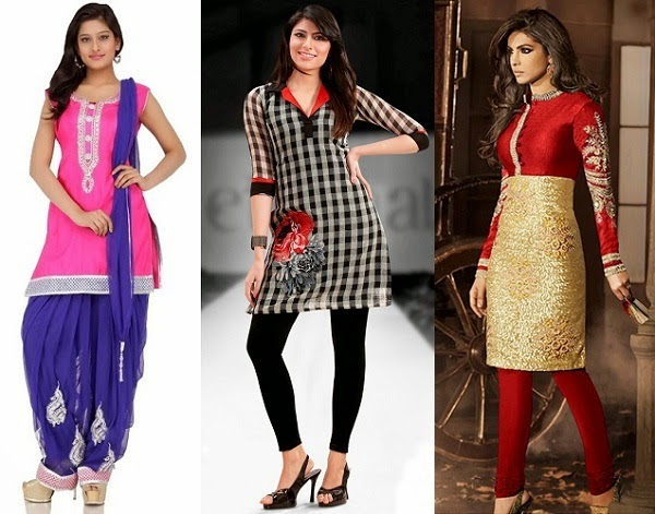 perfect salwar suits for women with hourglass figure