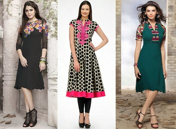 kurti to wear for women with straight body