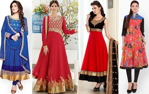 A line anarkali suit and kurti to flatter pear shape body