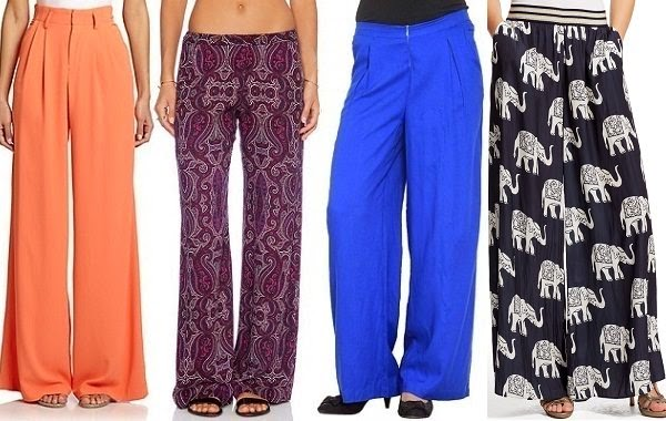 stylish wide leg pants for ladies