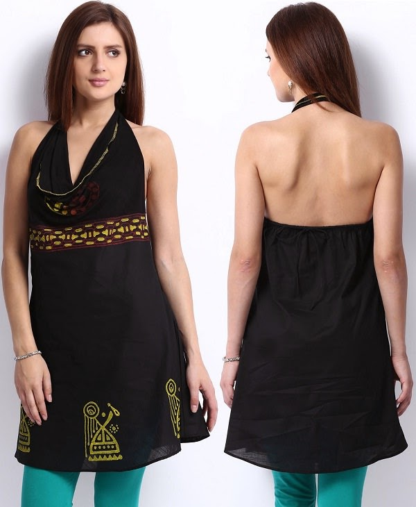 Backless kurti for kitty parties