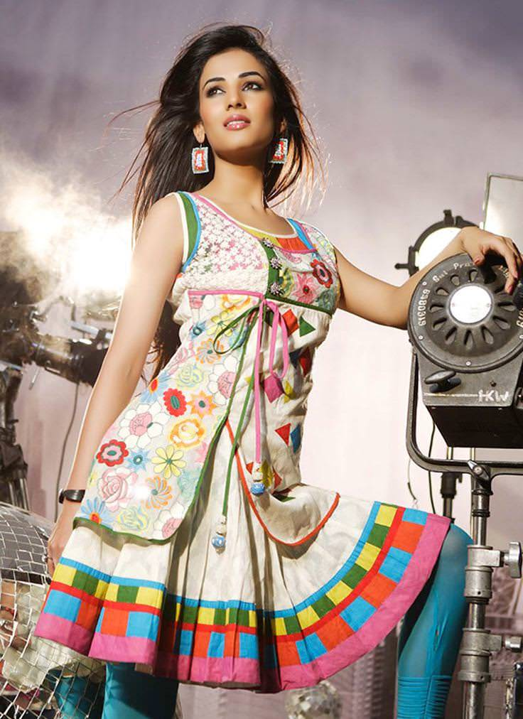floral long cotton kurti for summer