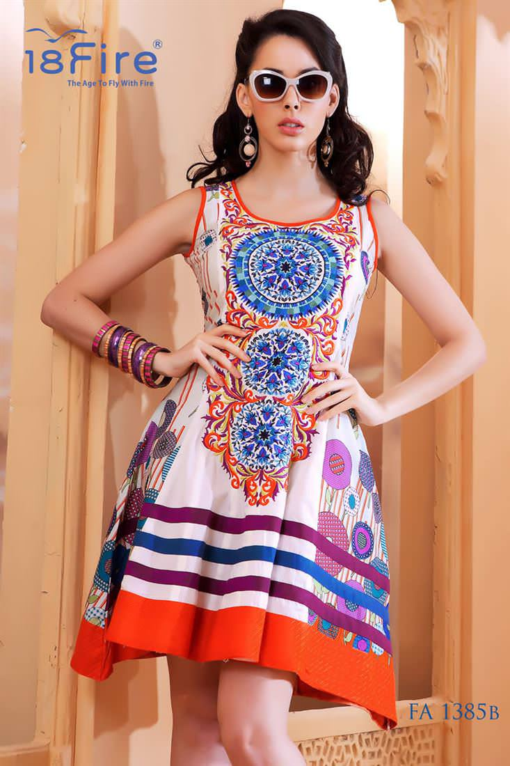 Floral Printed Long kurti for Party, cotton kurti neck patterns