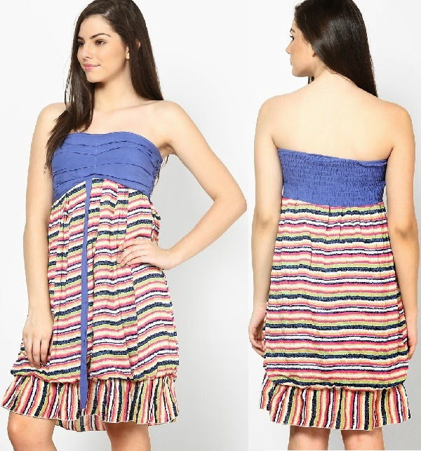 Comfortable backless dress with simple pattern