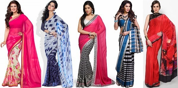floral, graphic, geometric, stripes and digital print sarees