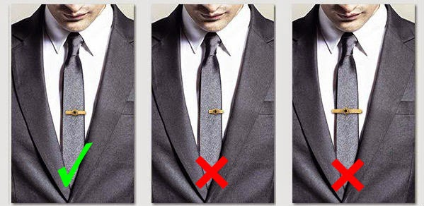 perfect way to wear tie bar with skinny tie