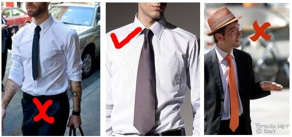 Image result for perfect tie length